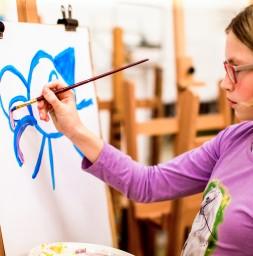 Teken- en schilderatelier